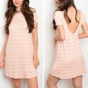Striped Peach Dress